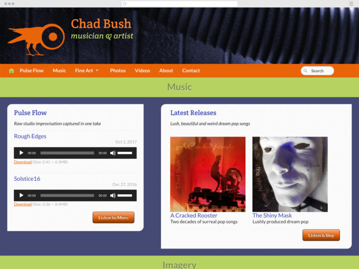 Chad Bush music and art website
