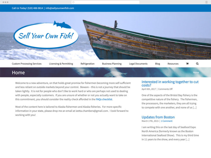 Sell Your Own Fish website